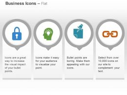 Lock Mind Bulb Link Idea Generation Ppt Icons Graphics