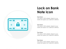 Lock On Bank Note Icon