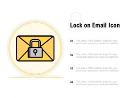 Lock On Email Icon