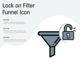 Lock On Filter Funnel Icon