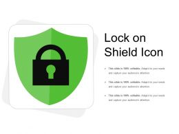 Lock On Shield Icon