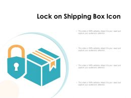 Lock On Shipping Box Icon