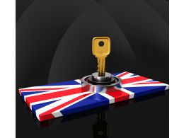 Lock On United Kingdom Flag Stock Photo