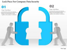 Lock Piece For Company Data Security Ppt Slides