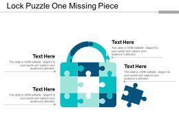 Lock Puzzle One Missing Piece