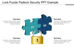 Lock Puzzle Padlock Security Ppt Example