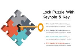 Lock Puzzle With Keyhole And Key
