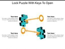 Lock Puzzle With Keys To Open