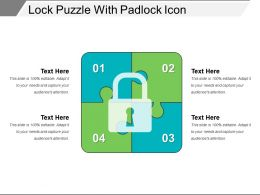 Lock Puzzle With Padlock Icon