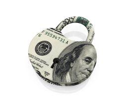 Lock Style With Dollar Symbol Stock Photo