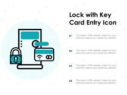 Lock With Key Card Entry Icon