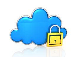 Lock Your Cloud Space Stock Photo