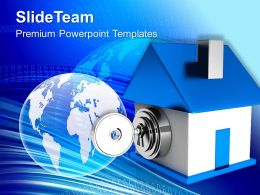 Locked House Security Powerpoint Templates Ppt Themes And Graphics
