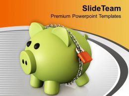 locked_money_bank_for_retirement_powerpoint_templates_ppt_themes_and_graphics_0313_Slide01
