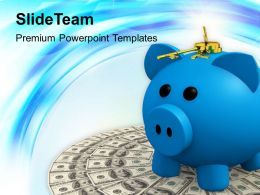 locked piggy bank with money powerpoint templates ppt themes and graphics 0213