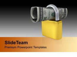Locked US Dollar Image PowerPoint Templates PPT Themes And Graphics 0213