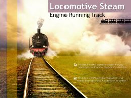 Locomotive Steam Engine Running Track