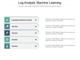 Log Analysis Machine Learning Ppt Powerpoint Presentation Gallery Aids Cpb