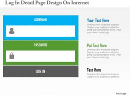 Log In Detail Page Design On Internet Flat Powerpoint Design