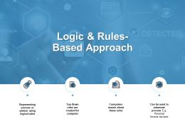Logic And Rules-Based Approach Gears Ppt Powerpoint Presentation Pictures Themes
