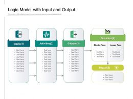 Logic Model With Input And Output