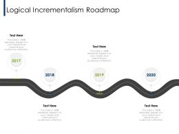 Logical Incrementalism Roadmap 2017 To 2020 Ppt Powerpoint Presentation Outline