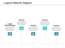 Logical Network Diagram Ppt Powerpoint Presentation Ideas Outline Cpb