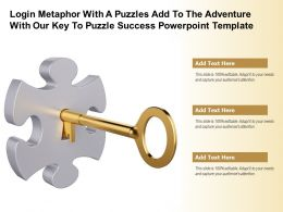 Login Metaphor With A Puzzles Add To The Adventure With Our Key To Puzzle Success Template