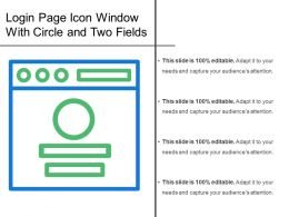 Login Page Icon Window With Circle And Two Fields