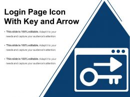 Login Page Icon With Key And Arrow