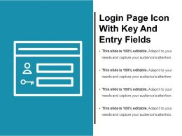 Login Page Icon With Key And Entry Fields
