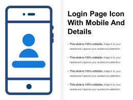 Login Page Icon With Mobile And Details