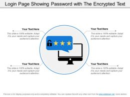 Login Page Showing Password With The Encrypted Text