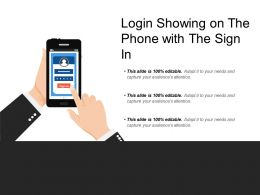 Login Showing On The Phone With The Sign In