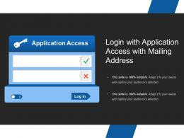 Login With Application Access With Mailing Address