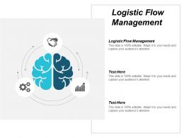 Logistic Flow Management Ppt Powerpoint Presentation Pictures Images Cpb