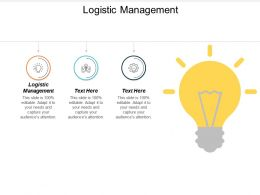 Logistic Management Ppt Powerpoint Presentation Gallery Elements Cpb