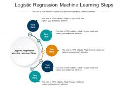 Logistic Regression Machine Learning Steps Ppt Powerpoint Presentation Infographics Samples Cpb