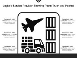 Logistic Service Provider Showing Plane Truck And Packed