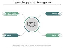Logistic Supply Chain Management Ppt Powerpoint Presentation Infographics Backgrounds Cpb