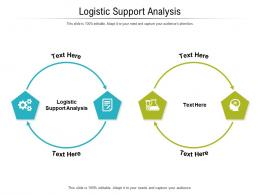 Logistic Support Analysis Ppt Powerpoint Presentation Professional Layout Ideas Cpb
