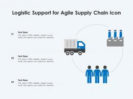 Logistic Support For Agile Supply Chain Icon