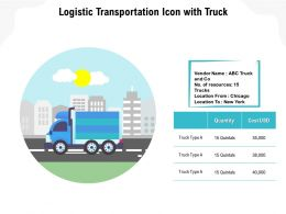 Logistic Transportation Icon With Truck