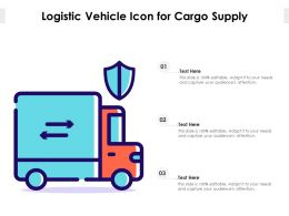 Logistic Vehicle Icon For Cargo Supply