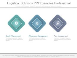 Logistical Solutions Ppt Examples Professional