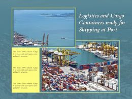 Logistics And Cargo Containers Ready For Shipping At Port