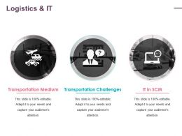 Logistics And It Ppt Infographics Slide
