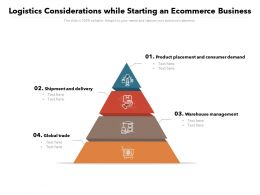 Logistics Considerations While Starting An Ecommerce Business