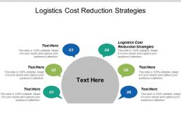 Logistics Cost Reduction Strategies Ppt Powerpoint Presentation Icon Example Cpb