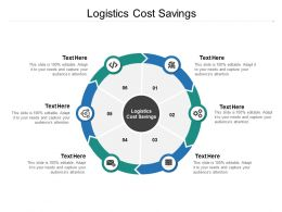 Logistics Cost Savings Ppt Powerpoint Presentation File Graphics Cpb